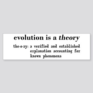 Evolution Definition of Theory Sticker (Bumper)
