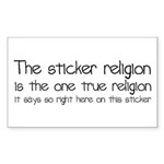 Sticker Religion Sticker (Rectangle)