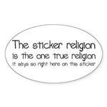 Sticker Religion Sticker (Oval)