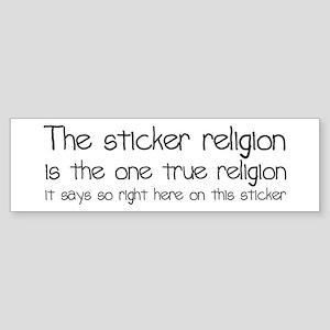 Sticker Religion Sticker (Bumper)