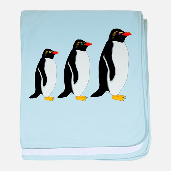 Penguin Parade baby blanket
