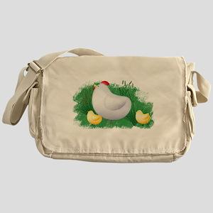 Momma Hen and Chicks Messenger Bag
