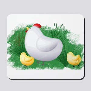 Momma Hen and Chicks Mousepad