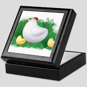 Momma Hen and Chicks Keepsake Box