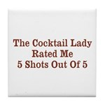 The Cocktail Lady Tile Coaster