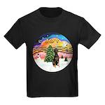 XMusic2 - Doberman (Nat) Kids Dark T-Shirt