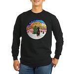 XMusic2 - Doberman (Nat) Long Sleeve Dark T-Shirt