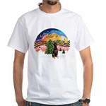 XMusic2 - Doberman (Nat) White T-Shirt