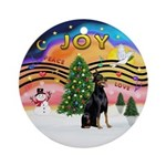 XMusic2 - Doberman (cr) Ornament (Round)