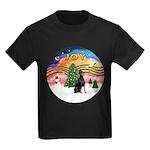 XMusic2 - Doberman (cr) Kids Dark T-Shirt