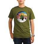XMusic2 - Doberman (cr) Organic Men's T-Shirt (dar