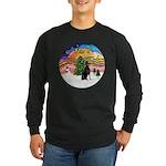 XMusic2 - Doberman (cr) Long Sleeve Dark T-Shirt