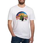 XMusic2 - Doberman (cr) Fitted T-Shirt