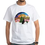 XMusic2 - Doberman (cr) White T-Shirt
