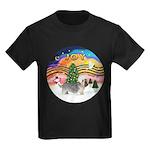 XMusic2 - Dandi Dinmont (slv) Kids Dark T-Shirt