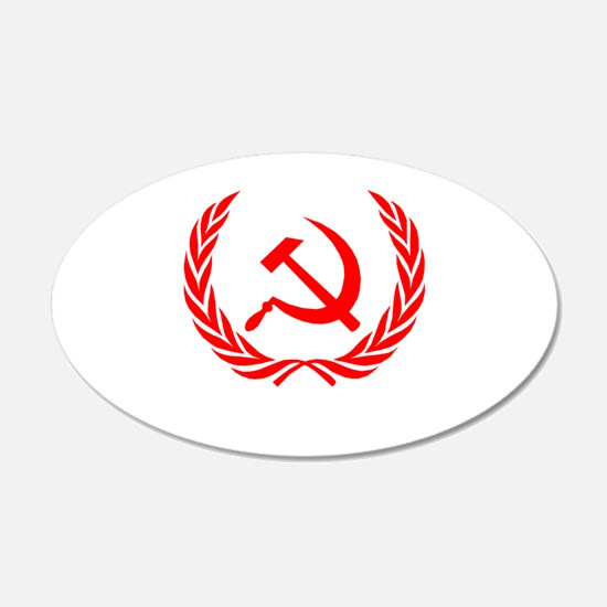 Soviet Wreath Red Wall Decal