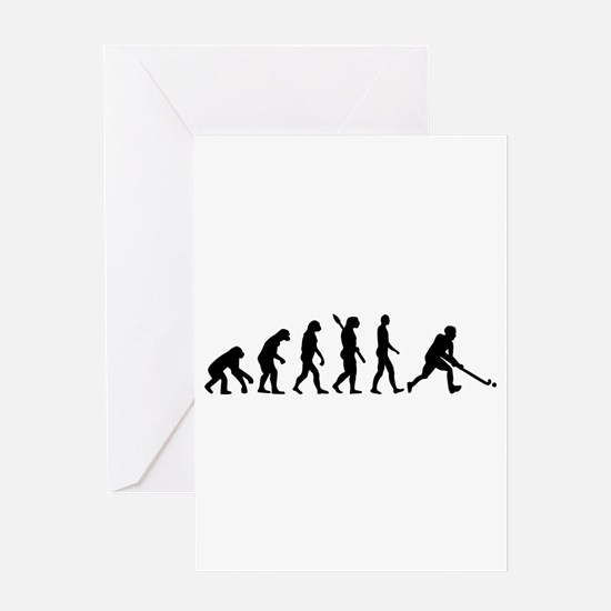 Field hockey evolution Greeting Card