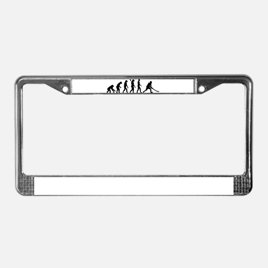 Field hockey evolution License Plate Frame