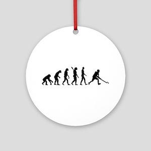 Field hockey evolution Ornament (Round)