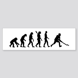 Field hockey evolution Sticker (Bumper)