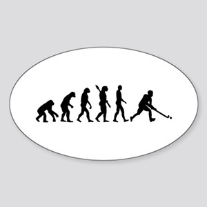 Field hockey evolution Sticker (Oval)