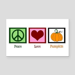 Peace Love Pumpkin Rectangle Car Magnet