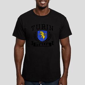 Turin Italia Men's Fitted T-Shirt (dark)