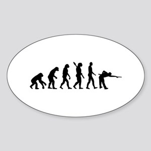 Pool billards evolution Sticker (Oval)
