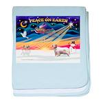 XSunrise-Clumber Spaniel baby blanket