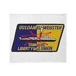 USS DANIEL WEBSTER Throw Blanket