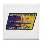 USS DANIEL WEBSTER Tile Coaster
