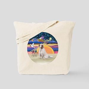 XmasAngel-ClumberSpaniel Tote Bag