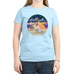 XmasAngel-ClumberSpaniel Women's Light T-Shirt