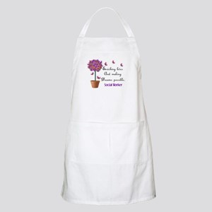 Social worker butterfly tree Apron