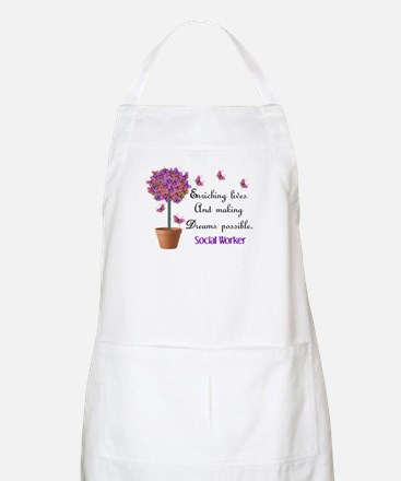 Social worker butterfly tree.PNG Apron