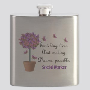Social worker butterfly tree Flask