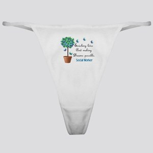 Social worker Butterfly Quote Classic Thong