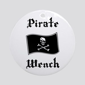 Pirate Wench Ornament (Round)