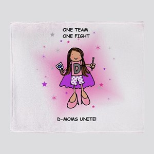Team D-Mom Throw Blanket