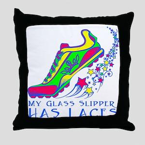 Running Shoe Throw Pillow