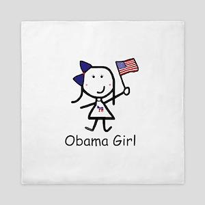 Democrat - Obama Girl Queen Duvet