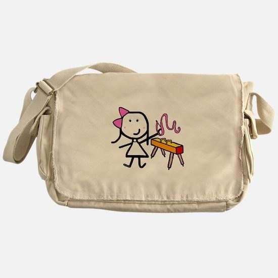 Girl & Gymnastics Messenger Bag