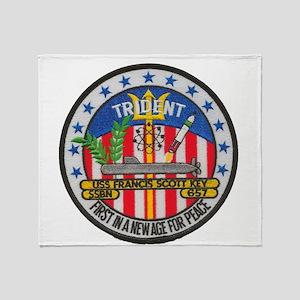 USS FRANCIS SCOTT KEY Throw Blanket