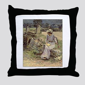 theodore robinson Throw Pillow