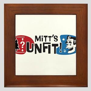 Mitt's Unfit! Framed Tile