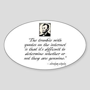 Lincoln Quote Sticker (Oval)