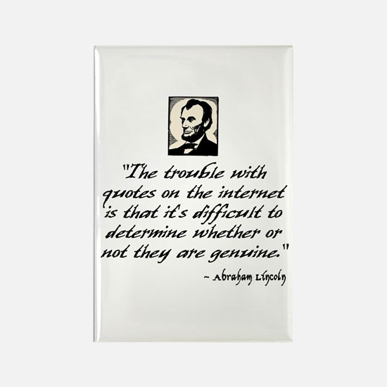 Lincoln Quote Rectangle Magnet