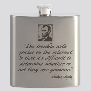 Lincoln Quote Flask