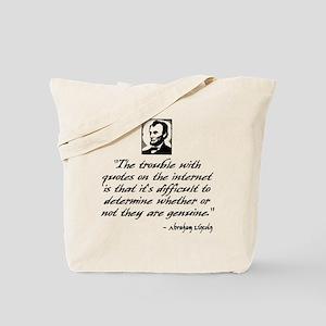 Lincoln Quote Tote Bag