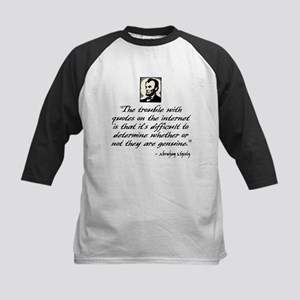 Lincoln Quote Kids Baseball Jersey